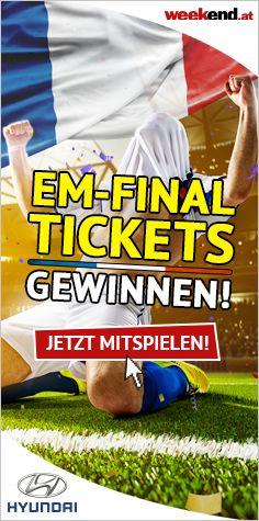 ⚽ Auf zum EM Finale in Paris! ⚽ Gewinnt bis 19. Juni 2 EM-Final-Tickets inklusive Flug, Hotel und Rahmenprogramm! Mitmachen auf Weekend.at  #EURO2016 #ÖFB #Nationalmannschaft #EM #Gewinnspiel