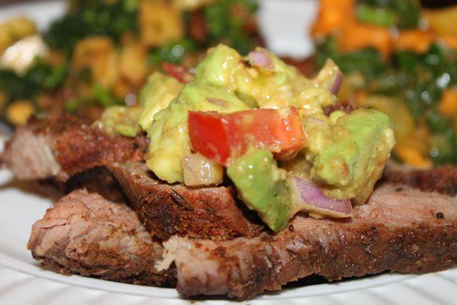 A Dinner Menu: Steak Dry Rub, Avocado Salsa, and Chopped Broccoli Salad   Everyday Paleo...on menu 9/22