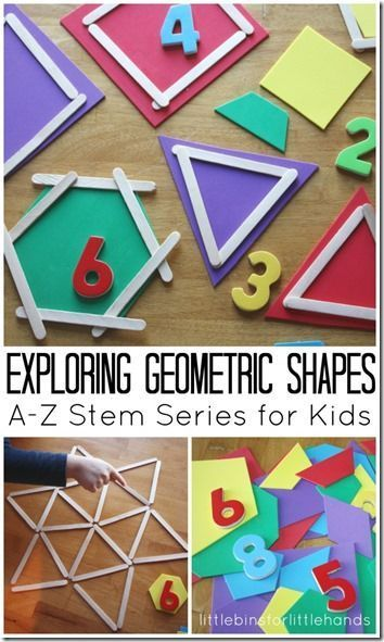 Shape Math Activities for Kids - So many fun ways for preschool, kindergarten, 1st grade, and 2nd grade kids to explore geometric shapes in this stem activities for kids.