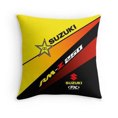 suzuki rmz throw pillow