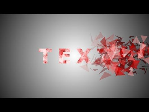 After Effects - Particles Text Effect Tutorial