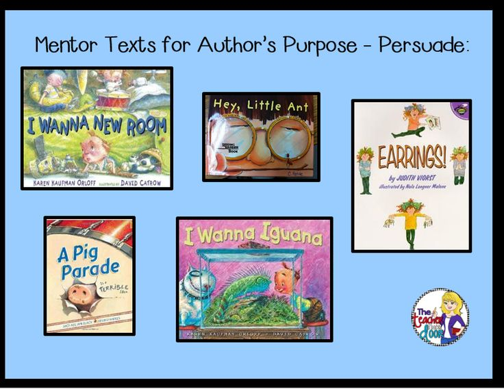 mentor texts for persuasive writing Posts about persuasive writing written by lisa keeler, betsy hubbard, stacey shubitz, anna gratz cockerille, ruth ayres, and guestteacher review mentor texts.
