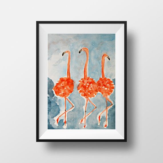 AVAILABLE CUSTOM ORDER - Flamingo Party