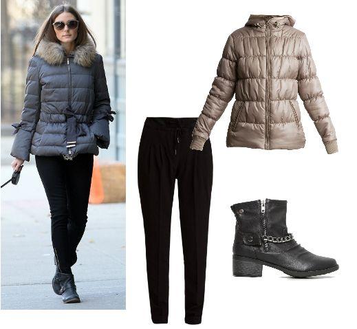 Copia el look de Olivia Palermo con chaqueta acolchada de @newcaro72, pantalón Fransa y botines de @chika10footwear.