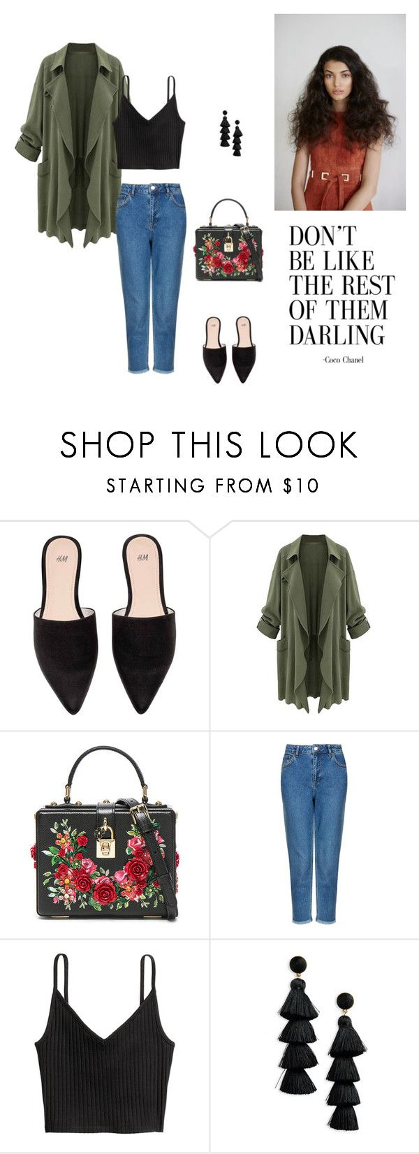 """""""12/09"""" by dorey on Polyvore featuring Dolce&Gabbana, Topshop and BaubleBar"""