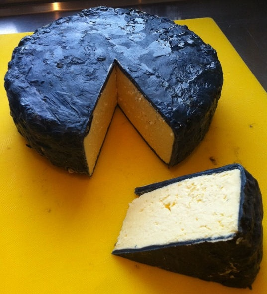 Home made Blue Cheddar, very young, but I couldn't wait to see what it was like..!