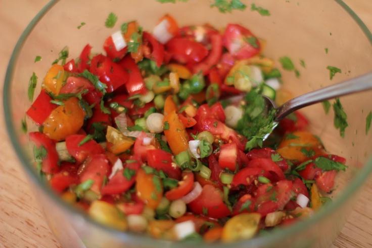 my fresh cherry tomato salsa recipe | Dips | Pinterest
