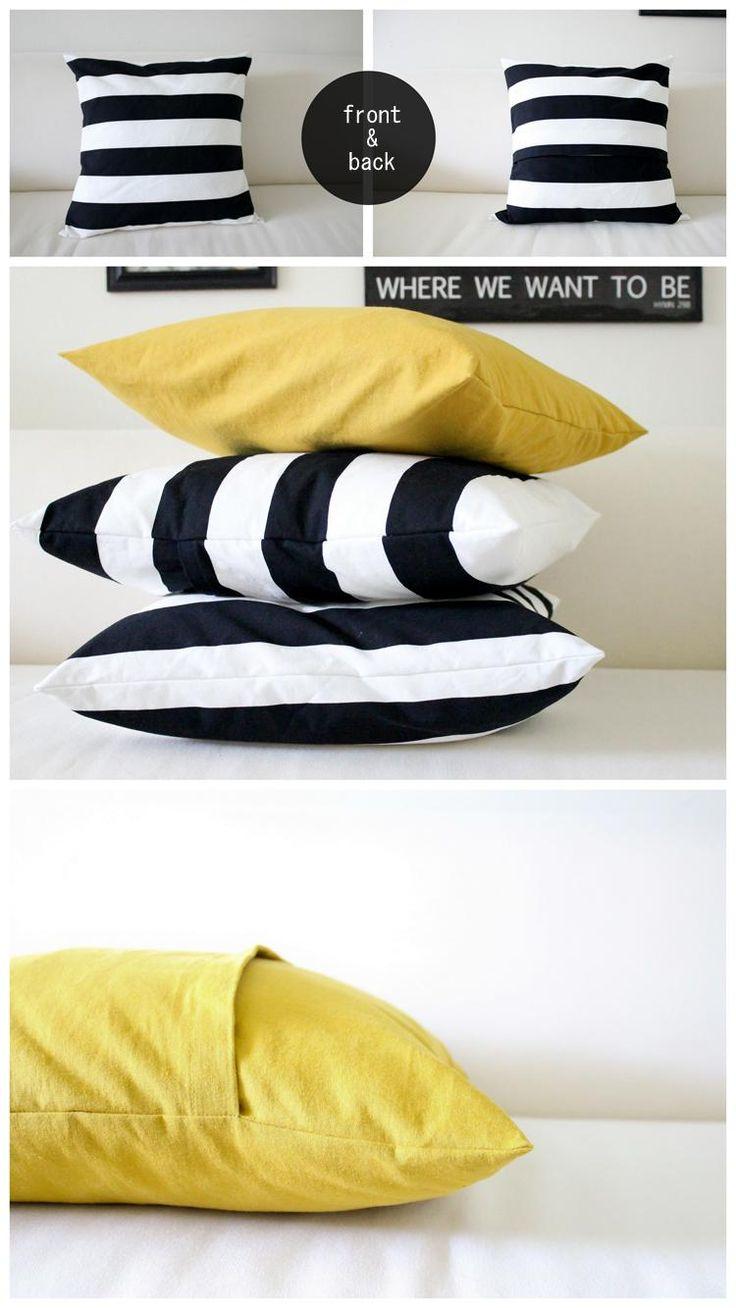 DIY Easy Envelope Pillow Case DIY Pillowcase DIY Home DIY Decor