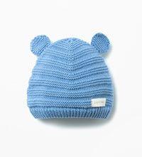 GEBREIDE MUTS MET OORTJES EN LABEL-Accessoires-Baby jongen (3-36 maanden)-KINDEREN | ZARA Nederland