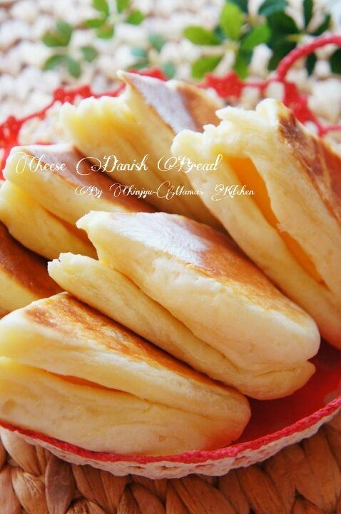 簡単折り込みなし!捏ねない!フライパンでデニッシュ風チーズパン | 珍獣ママ オフィシャルブログ「珍獣ママのごはん。」Powered by Ameba