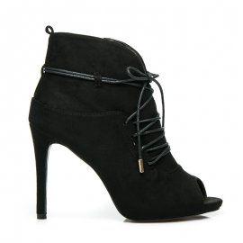 Viazané topánky Peep Toe 1032-1B