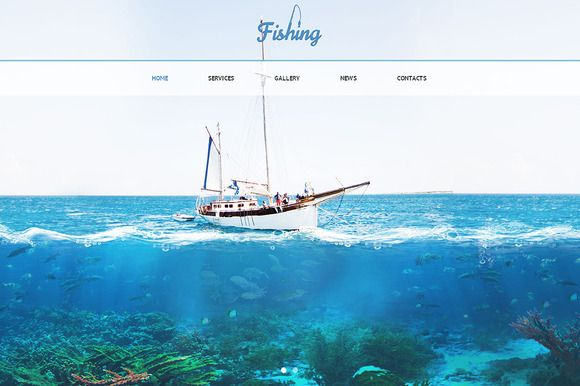 Check out Fishing Responsive One Page Theme by IceTemplates on Creative Market