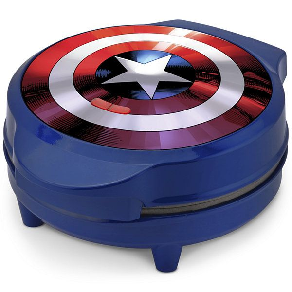 Captain America Shield Waffle Maker @ JC Penney's -- Waffles. SHAPED LIKE CAPTAIN AMERICA'S SHEILD