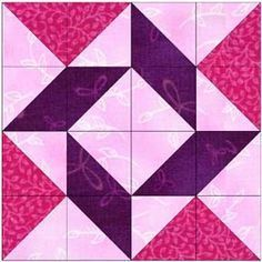 THIS WOULD BE EASY TO DO - SEE FINISHED QUILT - IT HAS PINWHEELS ALSO -Whirlpool block Delaware Quilts block of he month