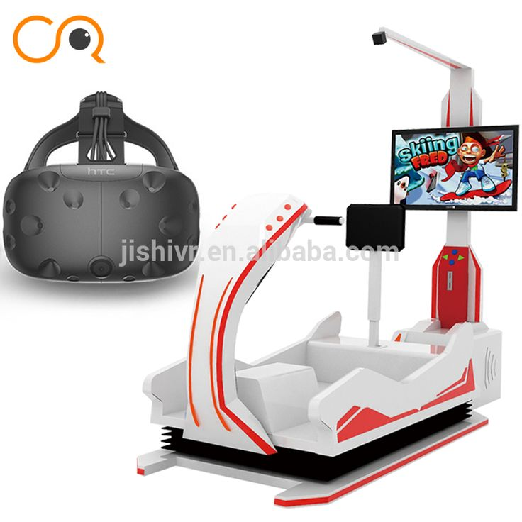 Factory price for amusement park equipment 9d skiing simulator HTC vive glasses amazing virtual reality simulation rides