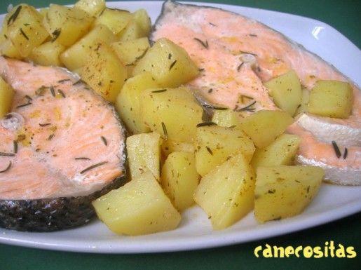 Salmon con patatas a las finas hiebas (Varoma)