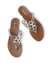 Circle Flip Flop (Silver Mirror Metallic)
