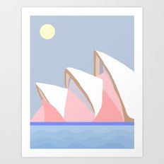 Art Print featuring Opera House by Miranda Lorikeet