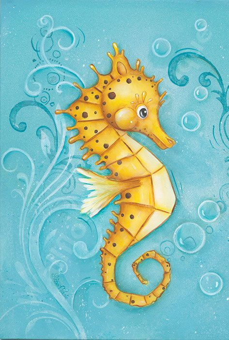 Sea Horse Art Children's Wall Art 8x10 by WallFlowerArtBotique, $18.00