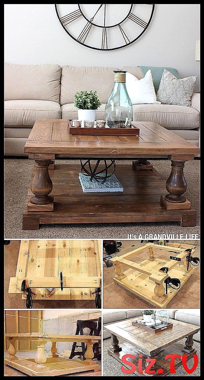 12 id es de tables basses de ferme bricolage DIY Balustrade ...