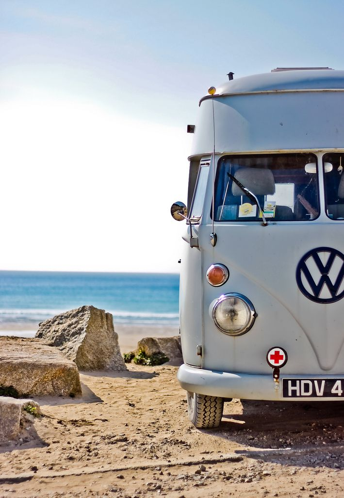 + vw camper +: Buses, At The Beaches, Sports Cars, Vw Campers Vans, Campervan, Vw Bus, Beaches Trips, Roads Trips, Vw Vans