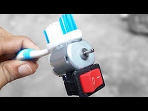 كيف تصنع  فرشاة الأسنان الكهربائية - ببساطة في منزل