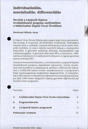 B3-2 - Individualizálás, szocializáslás, differenciálás - Angela Lakatos - Picasa Webalbumok