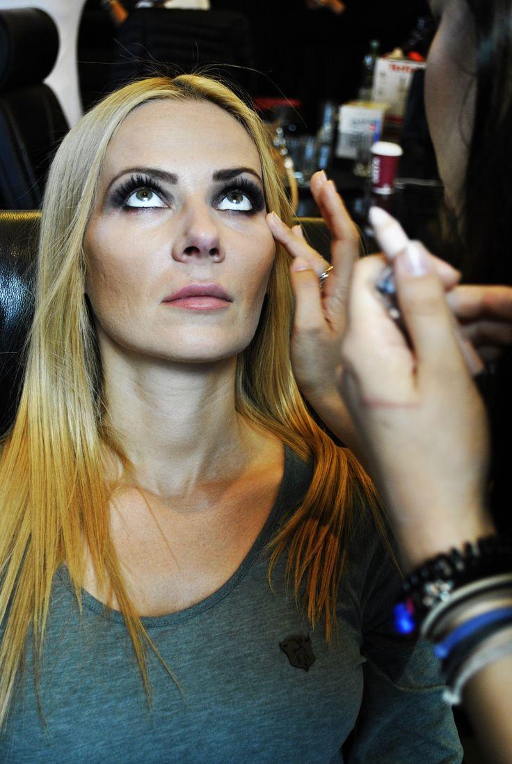#isadora #makeup #mascara #fashionshow #lashes #blonde #hair #model #models #makijaż #poland