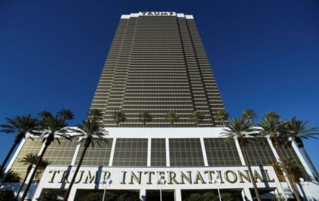 The Trump International Hotel & Tower, owned by President-elect Donald Trump, in Las Vegas, Nev. (Photo: David Becker/Reuters)