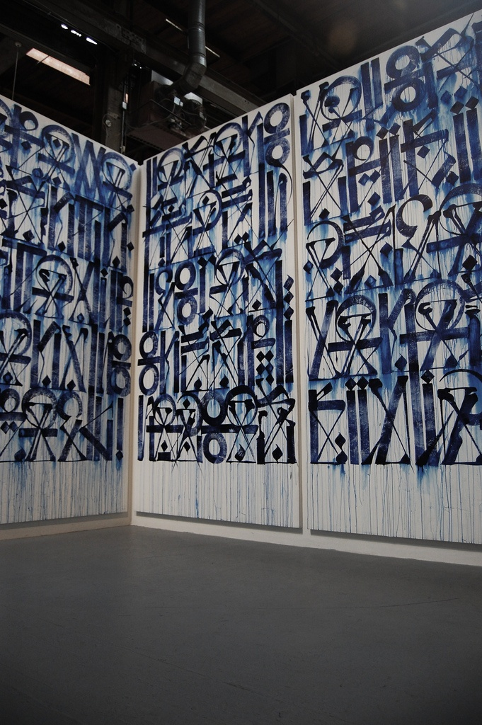 Wow. This is literally overwhelming. Such clean, structured lines and penmanship. | Retna @ moca
