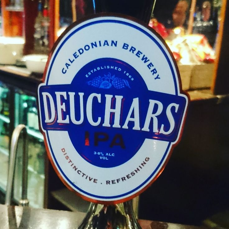 Midlothian Craft Beer Review: Deuchars IPA from Caledonian real ale pump clip