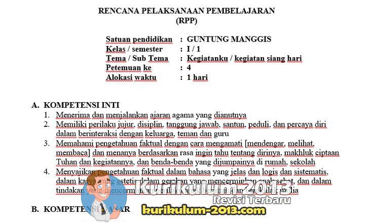 Download RPP PJOK SDMI 145 Kurikulum 2013 Revisi 2016 - RPP K13 SD Administrasi K13