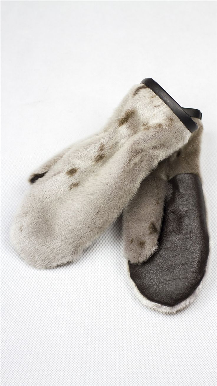 Seal Mittens with sheep skin inside