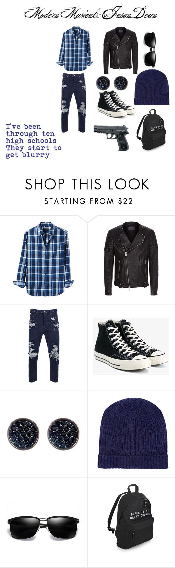 """""""Modern Musicals: JD"""" by sweetumkitty on Polyvore featuring Banana Republic, AllSaints, Golden Goose, Converse, Ariella Collection, Barneys New York, modern, men's fashion, menswear and Heathers"""