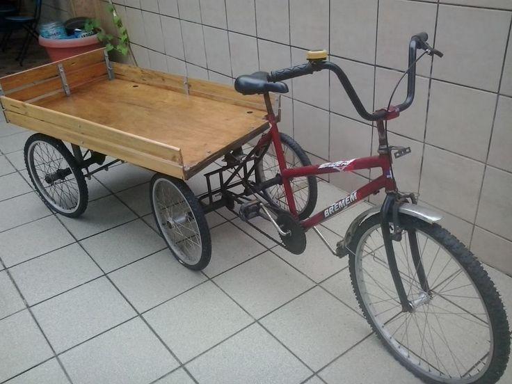 Triciclo Com Carretinha Para Carga - R$ 950,00 no MercadoLivre