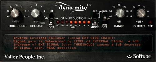 Valley People Dyna-mite by Softube - Software compressor for drums