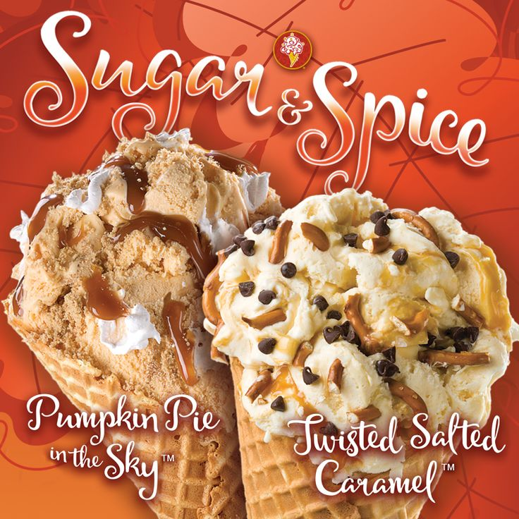The flavors you've been waiting for all year are finally here! Cozy up to fall and try our Salted Caramel Ice Cream and Pumpkin Ice Cream today.