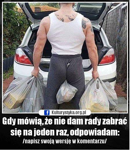 Poprawna technika przydaje się nie tylko na siłowni. trening pośladków nie poszedł na marne.Śmieszne memy, humor. #memy #smieszne #lol #funny #humor #dupa #ass #zakupy #shopping