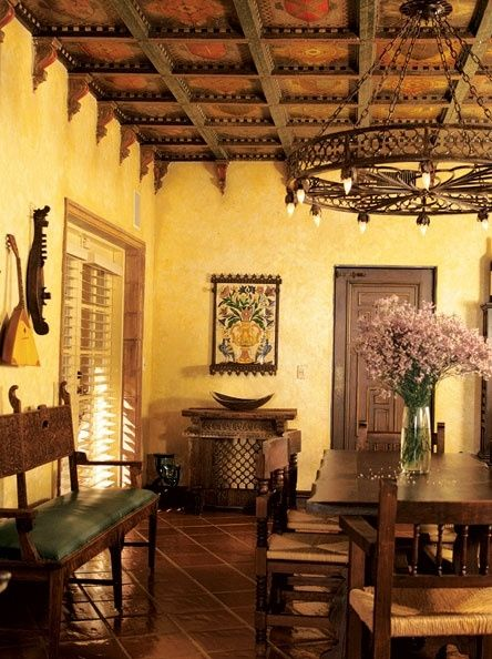 1327 Best Spanish Revival Images On Pinterest  Haciendas Endearing Spanish Dining Room Table Inspiration