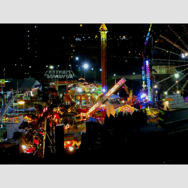 EKKA action at night.