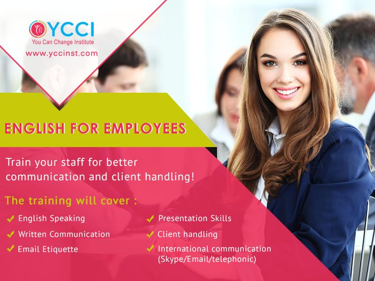 """English for Employees"" program is specially designed for Corporates to improve their skills like English communication skills, Email drafting, Presentations skills, International communication and Workplace etiquettes. Train your staff and take your business to a new level!  http://www.yccinst.com/corporate-trainings.html  #Corporate_training #Communication_skills_training #YCCI"