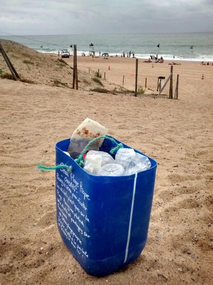 #seauplagepropre Ondres plage