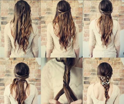 http://sincerelykinsey.blogspot.com/search/label/DIY: Hair Ideas, Hair Tutorials, Hairstyles, Hair Styles, Makeup, Wedding, Braids, Beauty
