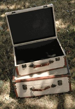 428 best vintage suitcase repurpose images on pinterest for Save on crafts burlap