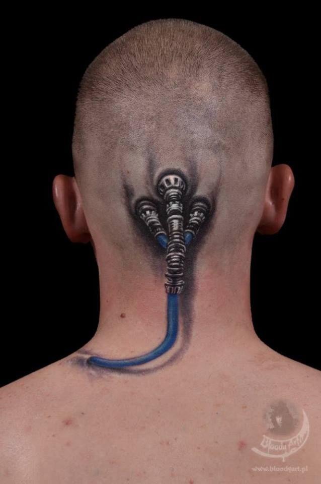 Total verrückte Kopf-Tattoos