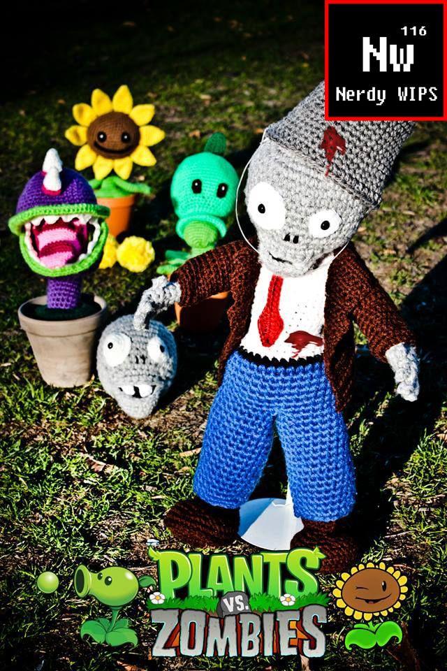 Zombie from Plants Vs Zombie Crochet