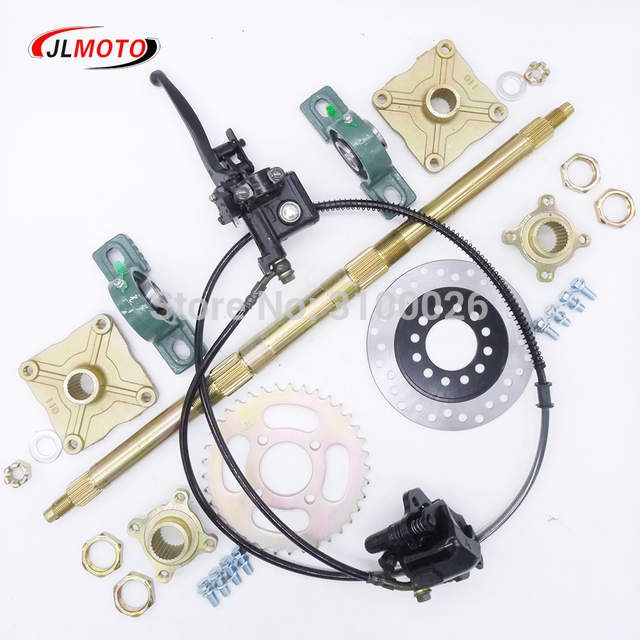 Online Shop 610mm M8 4 Heavy Wheel Hub Rear Axle Assy With 428