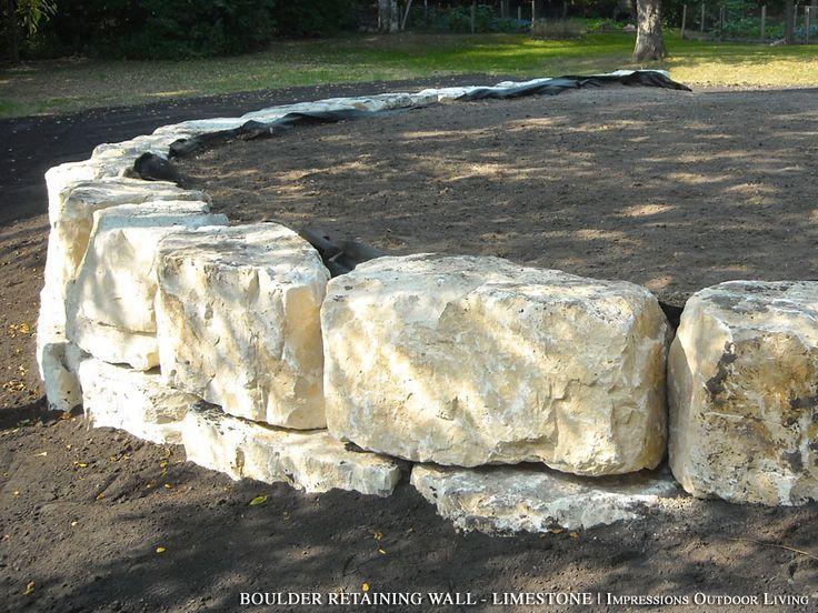 Boulder Retaining Wall - Limestone