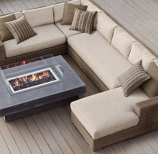 OUTDOOR SECTIONAL L-SHAPED Biscayne Classic Customizable Sectional