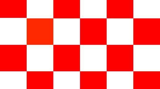 De provincievlag (ook wel Brabants Bont genoemd) is opgebouwd volgens een schaakbordpatroon en kent 24 vlakken die elkaar in de kleuren rood en wit afwisselen.